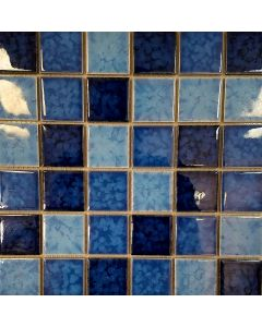 M48TG337 Meshed Mosaic Blue Mix Sheet 2x2