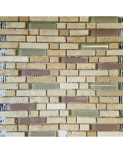MT-205 MOSAIC GLASS AND STONE SHEET